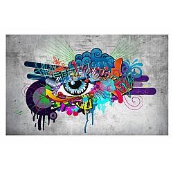 Wallpaper Mural Graffiti Eye