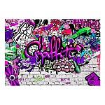 Wallpaper Mural  Purple Graffiti