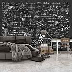 Wallpaper Mural Science On Chalkboard