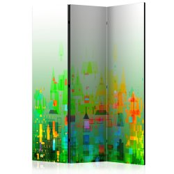 """Room Divider """"Abstract City"""" (135 x 172 cm)"""