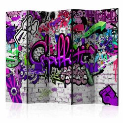"Room Divider "" Purple Graffiti"" (225 x 172 cm)"