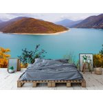 Wall mural river and mountain hills