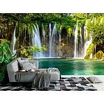 Wallpaper Mural Beautiful Waterfall In Plitvice