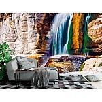Wall mural beautiful waterfall in Martvili canyon