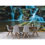 Wallpaper Mural Flowing Stream And Waterfall In Forest