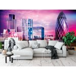 Wallpaper Mural Abstract Purple Cityscape of London (136547340)