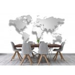 Photo wall mural 3d stereo world map