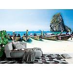Wallpaper Mural Longtail Boats at Phra Nang Beach (Thailand)
