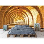 Photo wall mural arched stone colonnade
