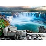 Wallpaper Mural Godafoss Waterfall