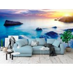 Wall mural majestic summer sunset over the sea