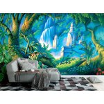 Wallpaper Mural Painted Backdrop of Tropical Rainforest (22349359)