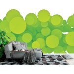 Wall Mural Abstract Green Circles on White Background (24141901)
