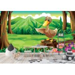 Wallpaper Mural Featuring a Duck Above the Stump in the Forest (26337171)