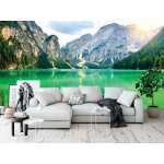 Wallpaper Mural Boats on a Mountain Lake in Sudtirol (28075362)