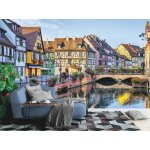 Wall mural colorful French houses in Colmar
