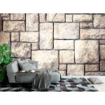 Wall mural old brown decorative stone wall