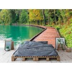 Photo wall mural bled lake in Slovenia