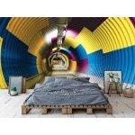 Wall mural colorful subway tunnel