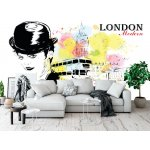 Wallpaper Mural Fashion Girl in Sketch-style (36310934)