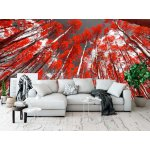 Wallpaper Mural Red Trees Forest