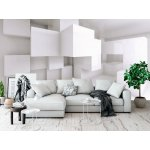 Wallpaper Mural Abstract Architectural Background With White Chaotic Cubes (38197874)