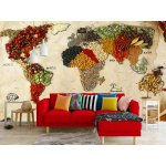 Wallpaper Mural World Map Of Spices