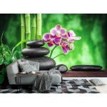 Wallpaper Mural Zen Basalt Stones, Orchid, and Bamboo (39193994)
