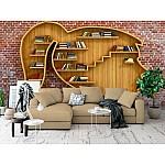 Wallpaper Mural Woman Head Bookshelf (46068809)