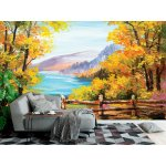 Wallpaper Mural Oil Painted Colorful Autumn Forest (46570176)
