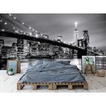 Wallpaper Mural Brooklyn Bridge and Manhattan Downtown Skyline at Dusk (47504979)