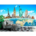 Wall mural famous monuments of the world