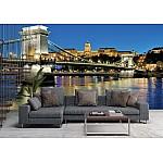 Wallpaper Mural Evening View of Szechenyi Chain Bridge in Budapest (48982748)