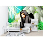 Photo wall mural featuring chimpanzee standing in front of the cave (51403492)