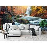 Wallpaper Mural Beautiful Waterfall At Mountain River