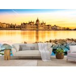 Wallpaper Mural View of Budapest Parliament at Sunset (Hungary)