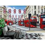 Wallpaper Mural London Buses on the Regent Street  (London, Uk)