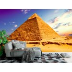 Photo wall mural landscape with pyramid