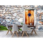 Wallpaper Mural Stone Wall and Beautiful Old Wooden Door (96952957)