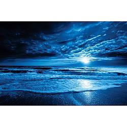 Photo wall mural midnight blue ocean