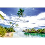 Photo Wall Mural Overwater Bungalows in French Polynesia