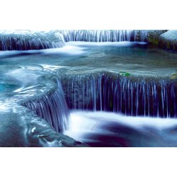Photo Wall Mural Jungle Landscape with Erawan Waterfalls in Thailand