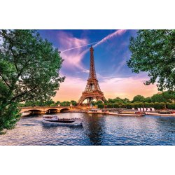 Photo wall mural Eiffel tower at sunset
