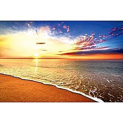 Wall Mural Beautiful tropical sunrise on the beach (49135908)