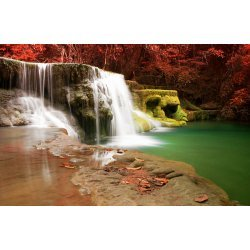 Wallpaper Mural Huay Mae Khamin Waterfall