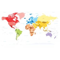 Photo wall mural map of the world