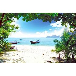 Wallpaper Mural Long Boat on Phi Phi Island in Thailand (13381303)