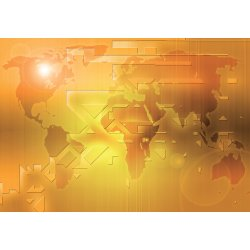 Photo wall mural featuring abstract  world technology map (23874988)