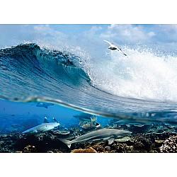 Wall mural ocean wave swirl