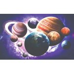 Wall mural planets of the solar system.
